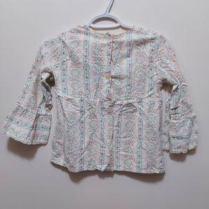 Adorable 1970's girls pyjama top